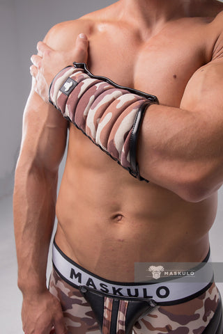 Maskulo Spandex Forearm Guard Wallet. Camo (1 pc)