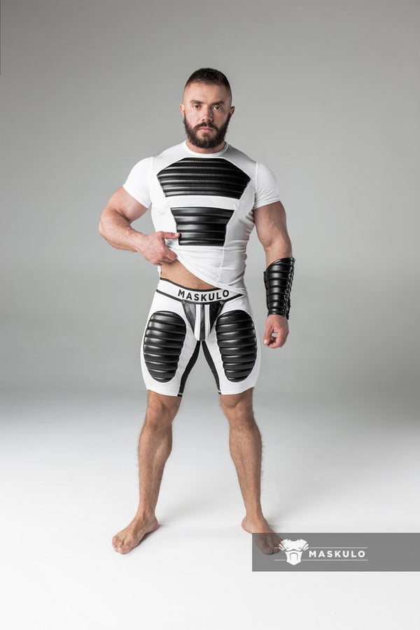 Markdown. Men's Fetish Shorts. Codpiece. Thigh pads. Shop Window Sample