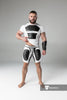 Men's Fetish Shorts. Codpiece, Open rear, Thigh pads