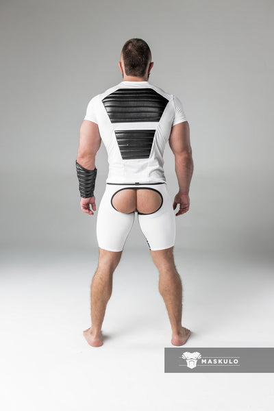SALE Armored. Men's Fetish Shorts. Codpiece. Open rear. Thigh pads