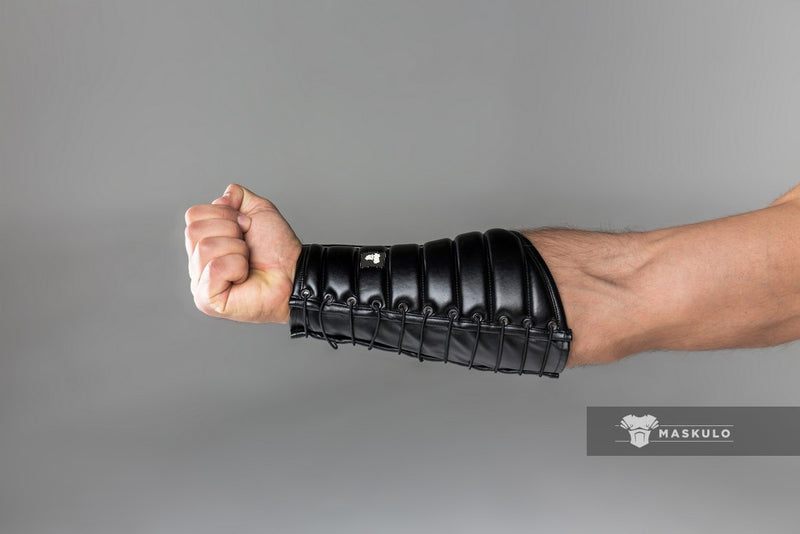 Armored. Maskulo Leather-look Forearm Guard Wallet (1 pc)