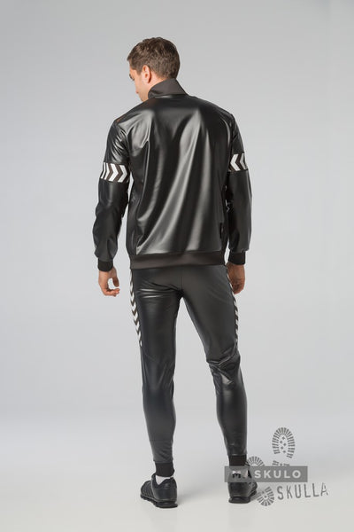 Skulla. Men's Fetish Leatherette Jacket