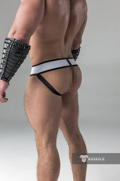 Armored. Men's Fetish Jockstrap. Detachable Codpiece