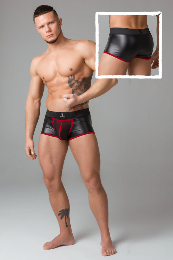 Youngero. Men's Fetish Trunks. Mesh Codpiece. Regular Rear
