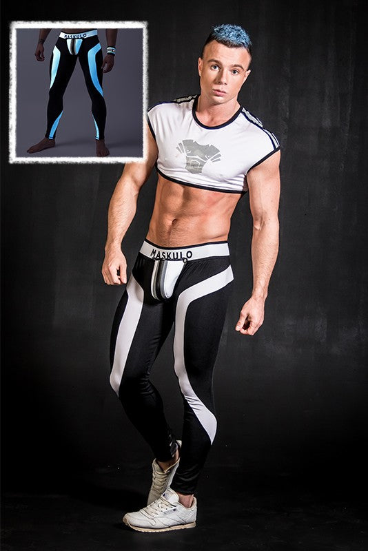 Youngero. Men's Fetish Leggings. Codpiece. Zipped rear