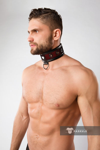 Armored. Color-Under. Men's Fetish Collar