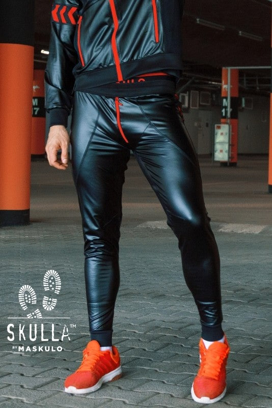 Skulla. Men's Leatherette Pants