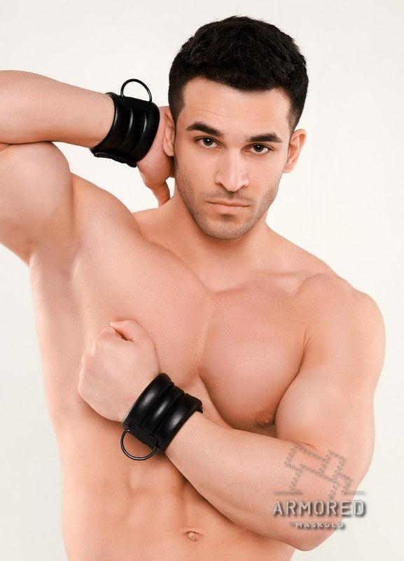 Armored Next. Men's Fetish D-Ring Wristband
