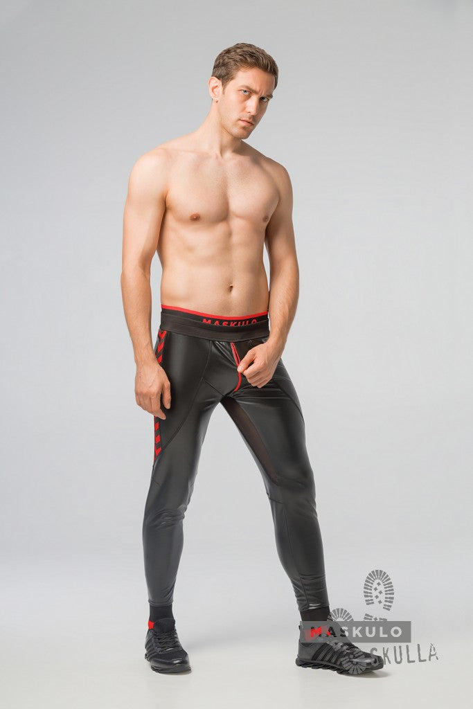 Skulla. Men's Fetish Leatherette Pants