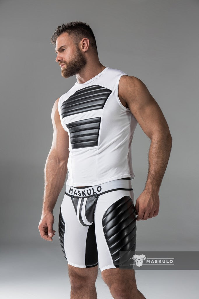 SALE Armored. Men's Fetish Tank Top. Spandex. Front Pads