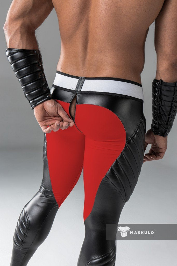 Armored. Men's Fetish Leggings. Codpiece. Zipped Rear