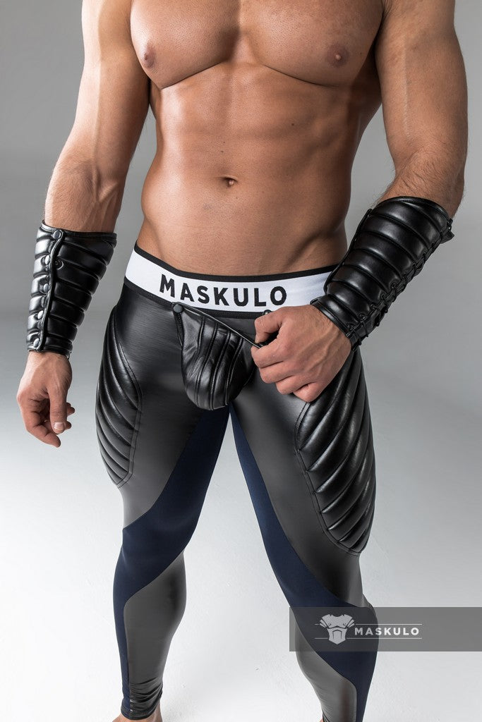 Armored. Men's Fetish Meggings. Codpiece. Open rear