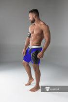 Markdown. Men's Fetish Shorts. Codpiece. Open rear. Full thigh Pads. Floor Sample