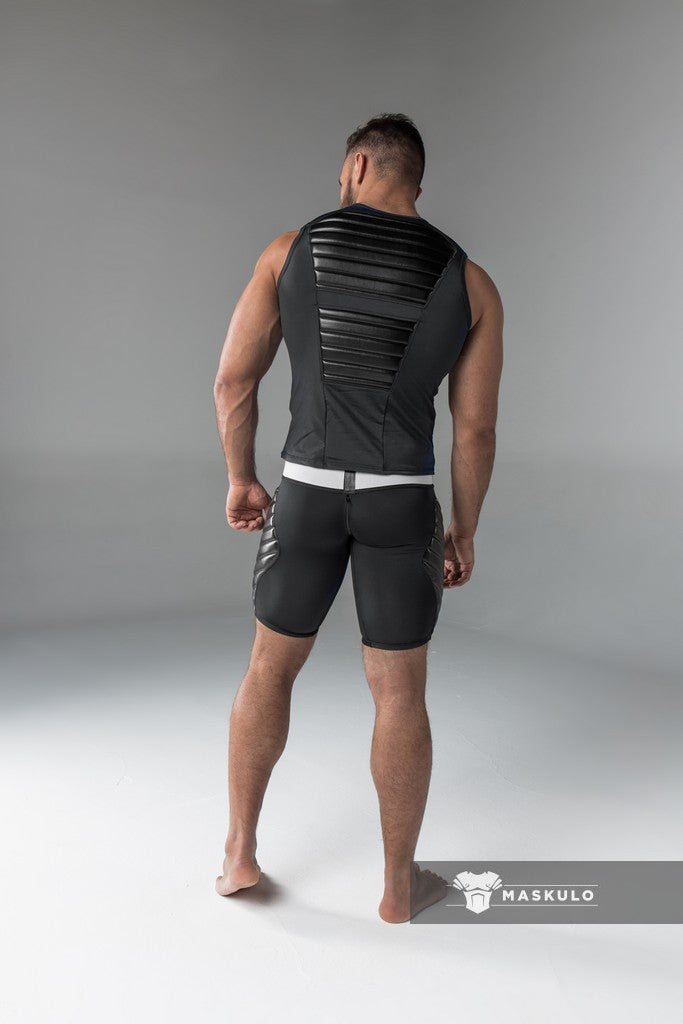 Armored. Men's Tank Top. Spandex. Front Pads