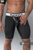 Men's Fetish Shorts. Codpiece, Open rear. Black