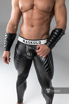 Armored. Men's Fetish Leggings. Codpiece.