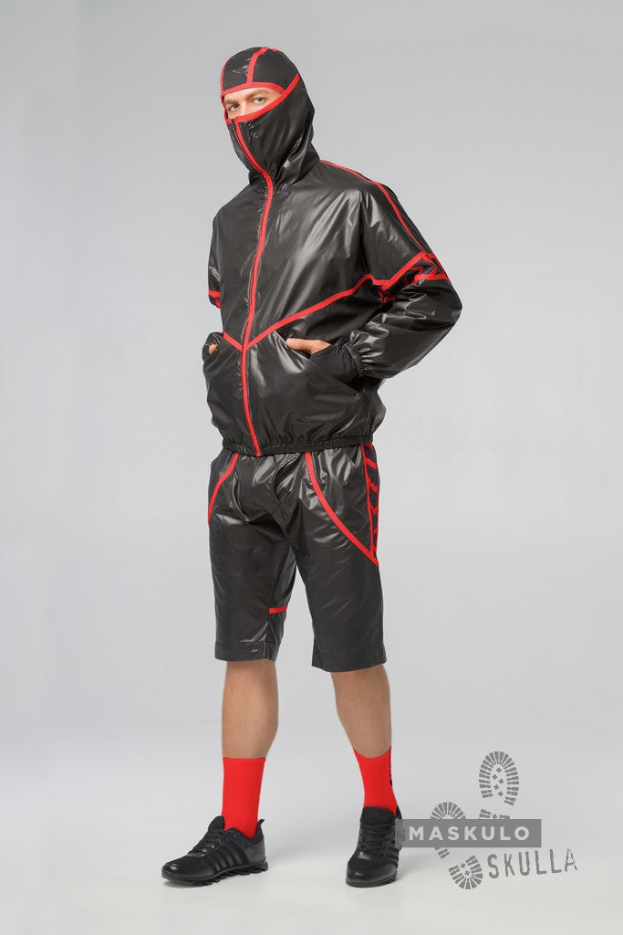 Skulla. Men's Fetish Windbreaker Shorts