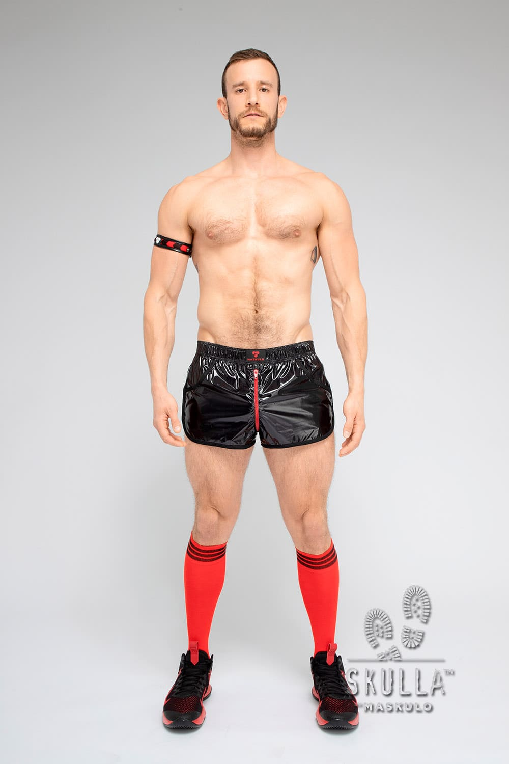 Skulla. Shiny Nylon Jogging Shorts