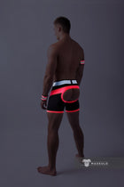 SALE Youngero. Men's Fetish Shorts. Codpiece. Open rear. Neon Pink