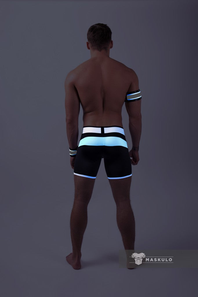 Youngero. Men's Fetish Shorts. Codpiece. Neon