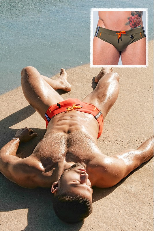 BeGuard. Swimming Briefs with Contrasting Details