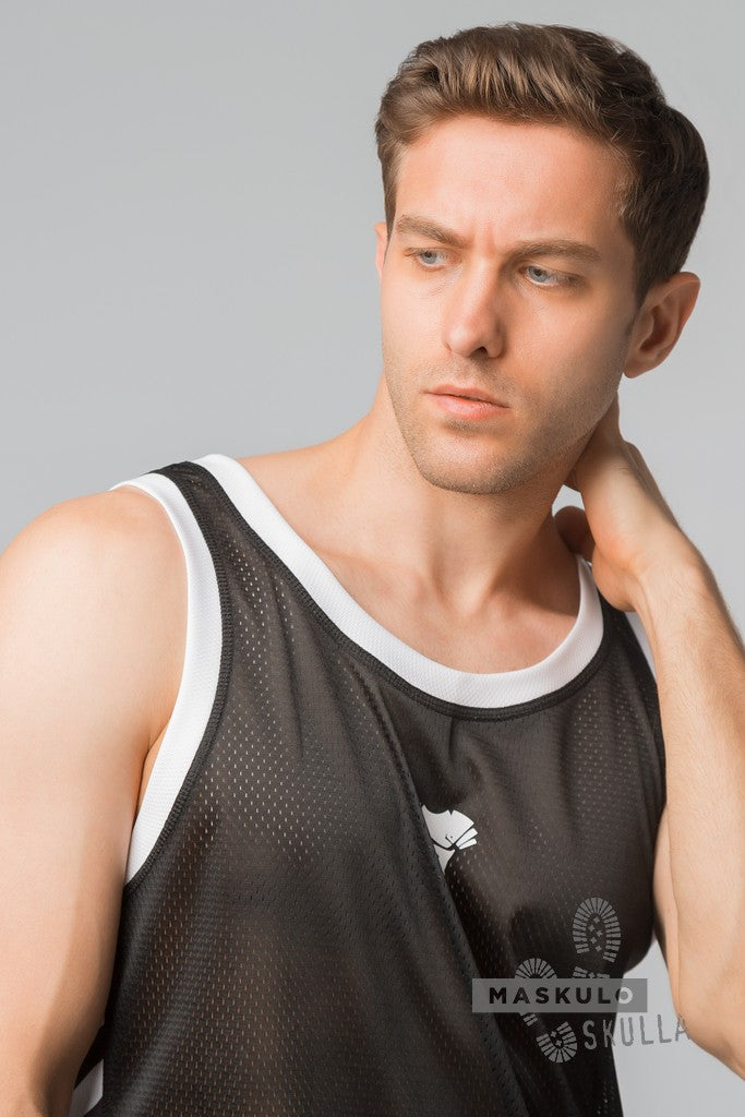Markdown. Men's Fetish Tank Top. Print Defect