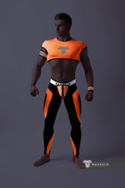 Youngero. Men's Fetish Crop Top. Spandex. Neon