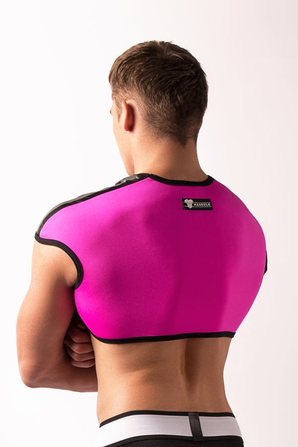 Youngero. Men's Fetish Top. Spandex. Neon Pink