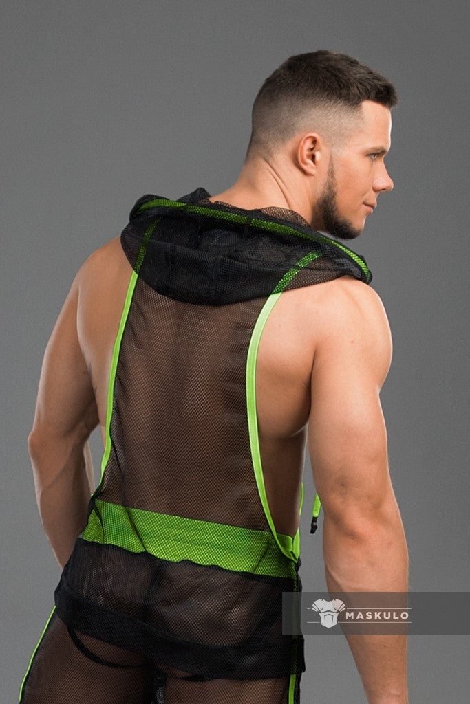 Markdown. Men's Fetish Tank Top. Mesh. Neon. Non-original tailoring