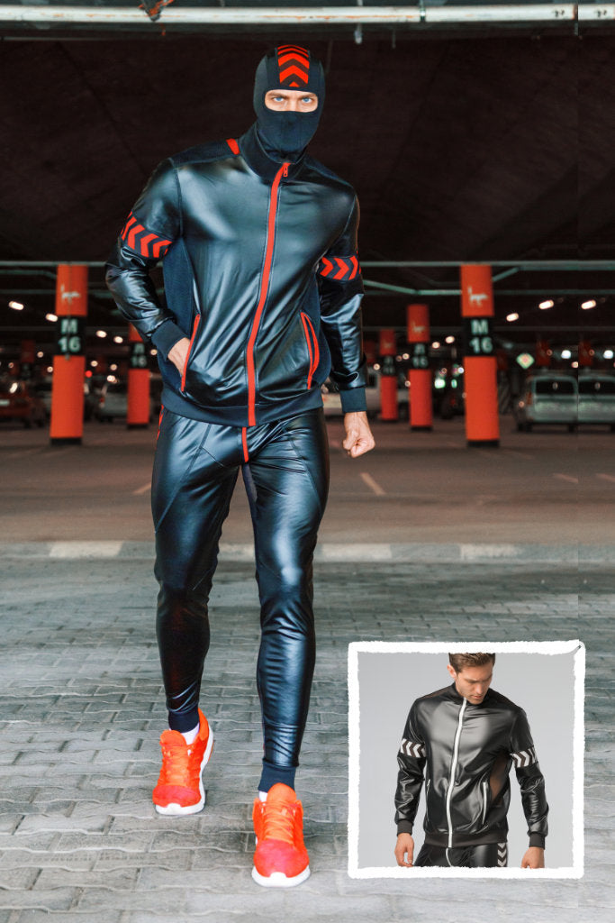 Skulla. Men's Leatherette Jacket