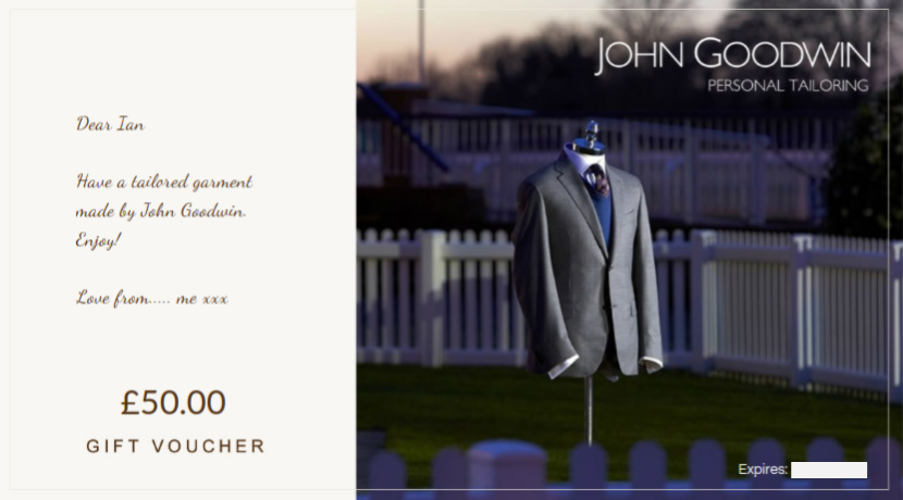Gift Vouchers from John Goodwin