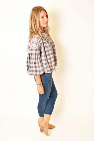 Summer Plaid Blouse