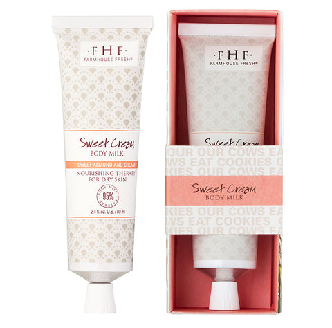 Farmhouse Fresh Sweet Cream Body Milk Travel Lotion