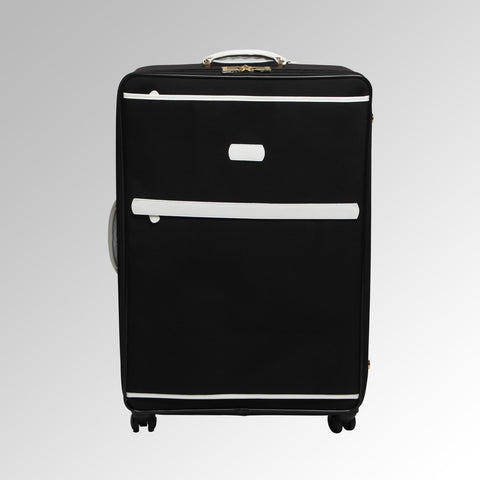 Travel - Black/White Wheeled Luggage