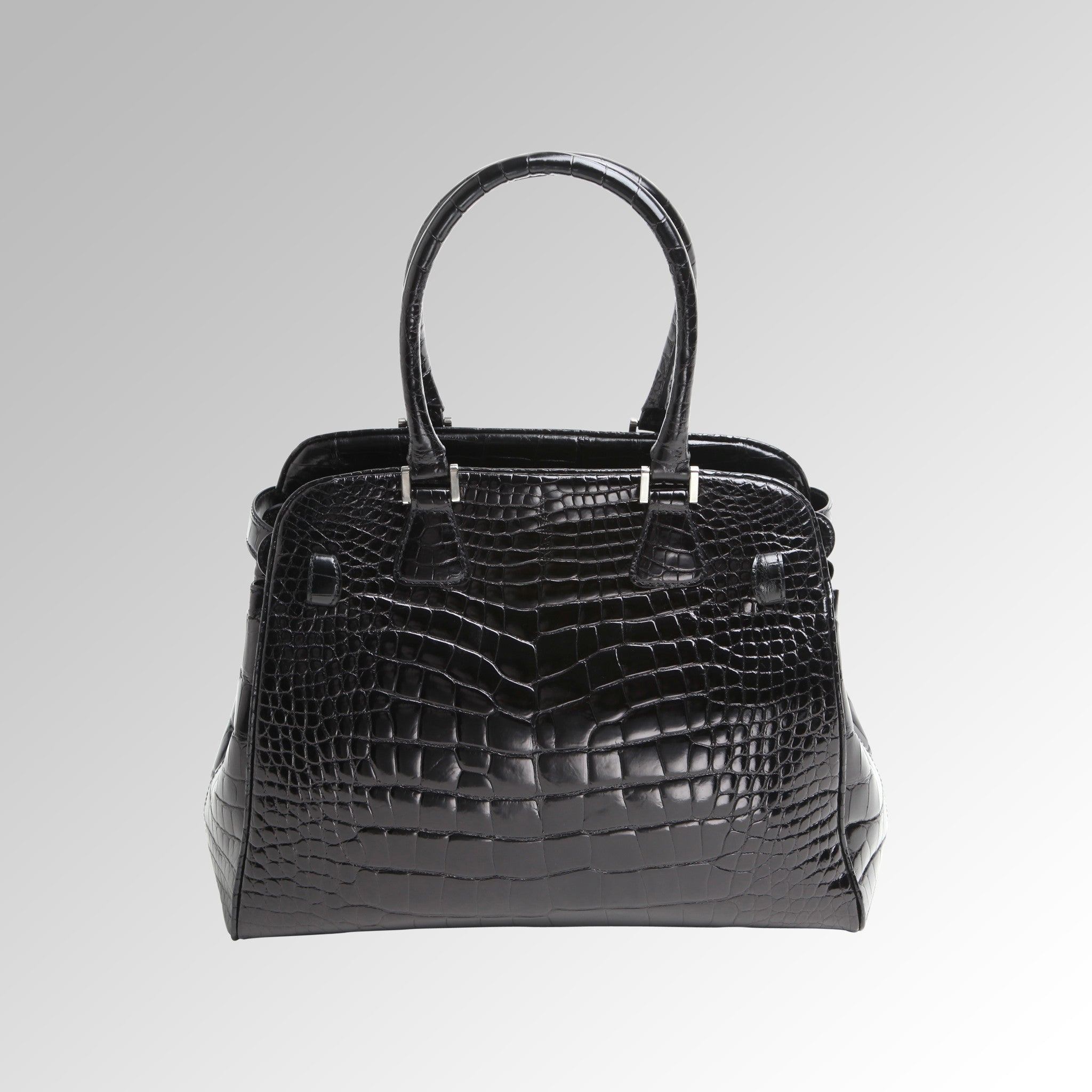 ALLIGATOR TOP HANDLE BAG