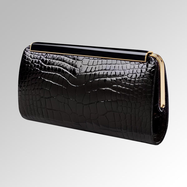 ALLIGATOR KELLY CLUTCH