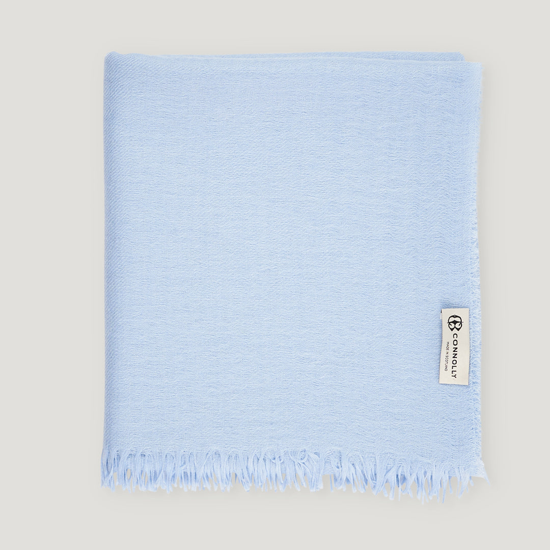 Connolly Summer Lightweight Plain Scarf Blue