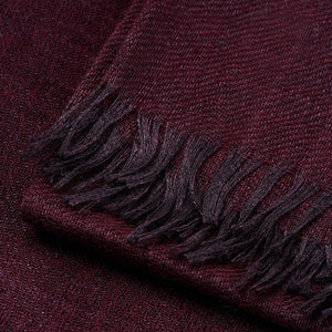 Connolly Summer Lightweight Plain Scarf Burgundy