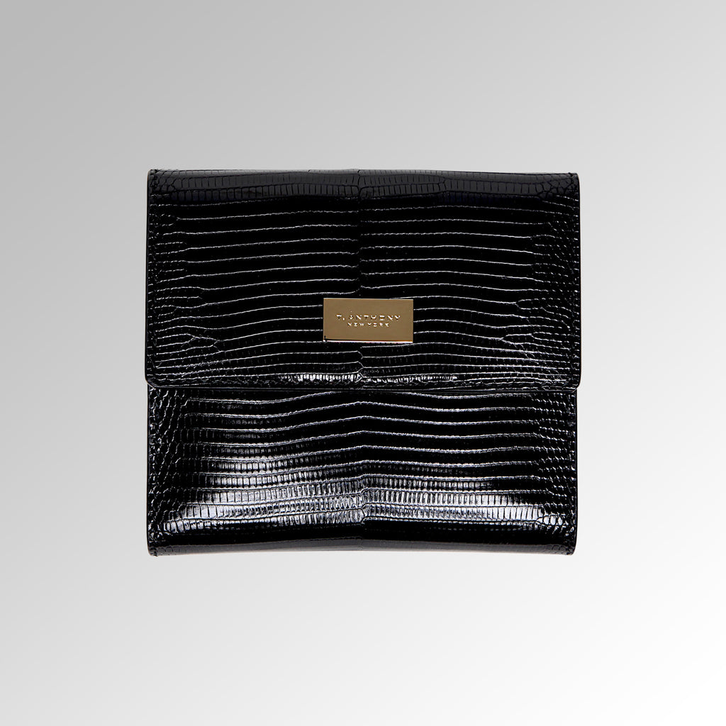 LIZARD LEATHER FRENCH PURSE