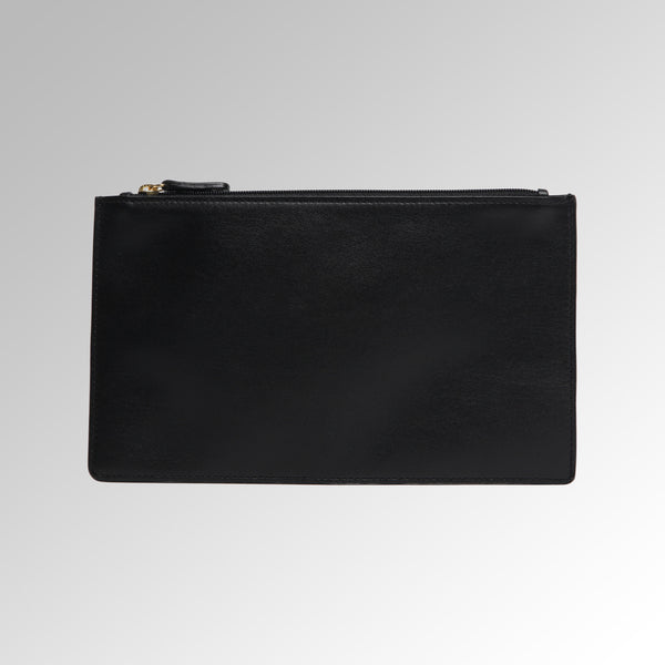 LEATHER ZIPPER POUCH