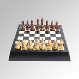 LEATHER CHESS/CHECKERS SET
