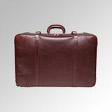 "VINTAGE LEATHER 27"" WHEELED PACKING CASE"