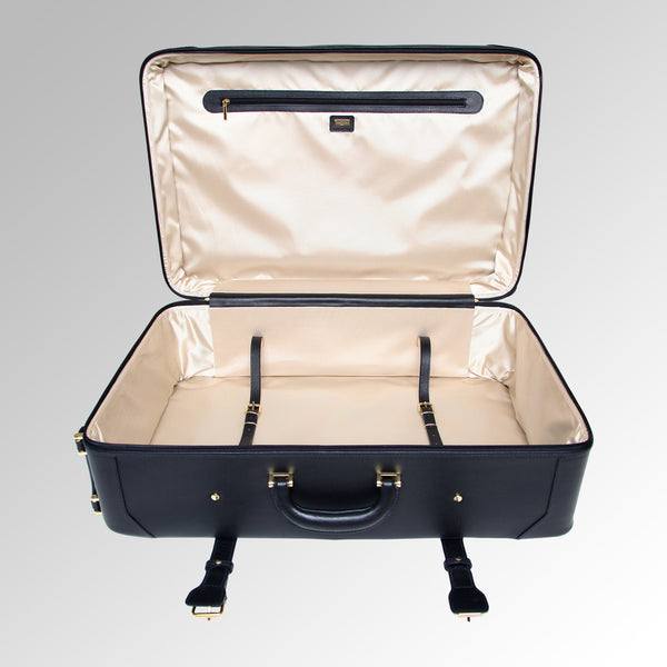 "DRESSAGE LEATHER 31"" WHEELED PACKING CASE"