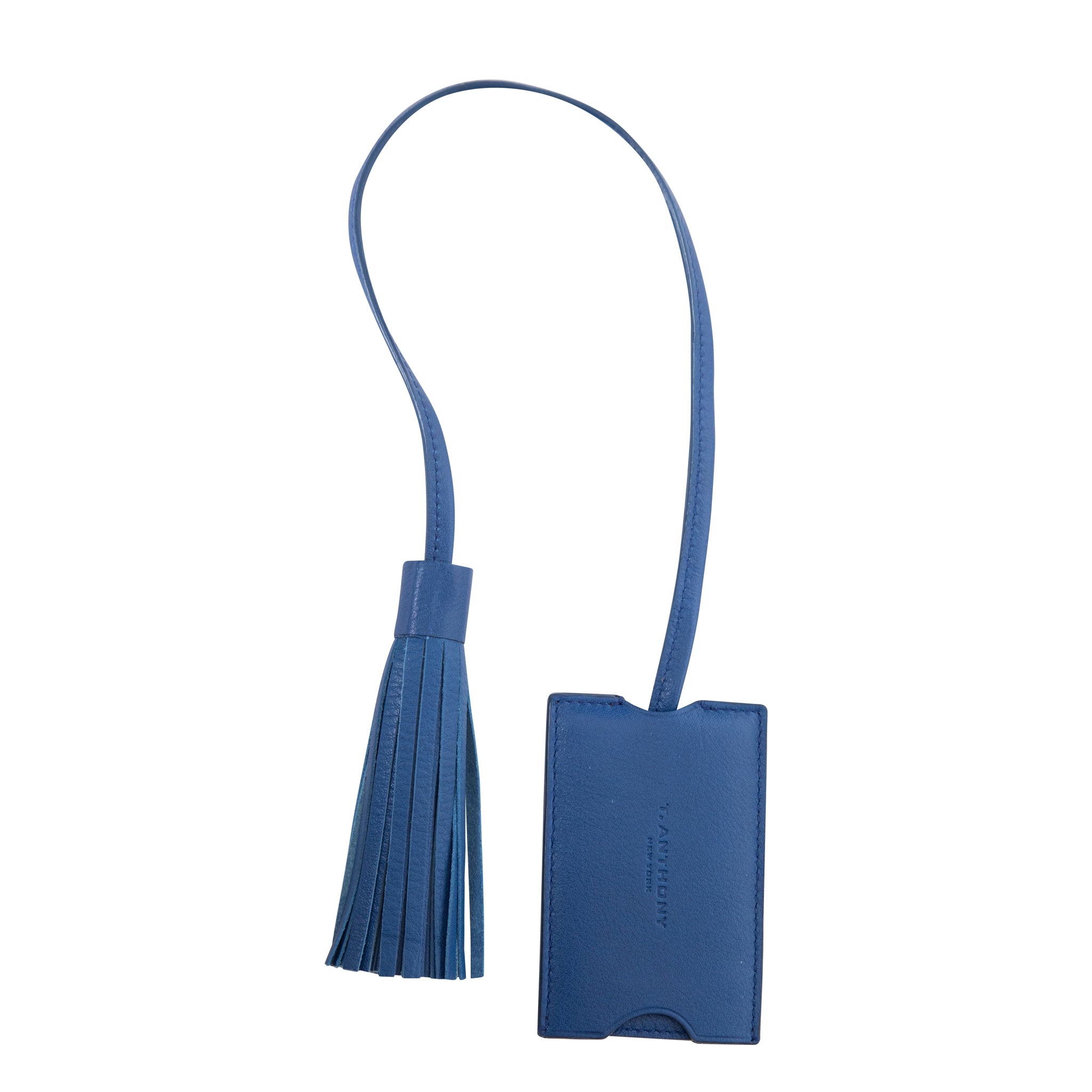 LEATHER LUGGAGE TAG WITH TASSEL