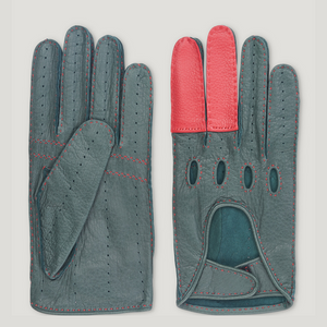 Connolly Road Rage Gloves Green-Red