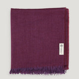 Connolly Oversized Bi-Colour Scarf Burgundy