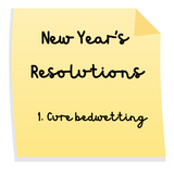 New Year's Resolution - cure bedwetting