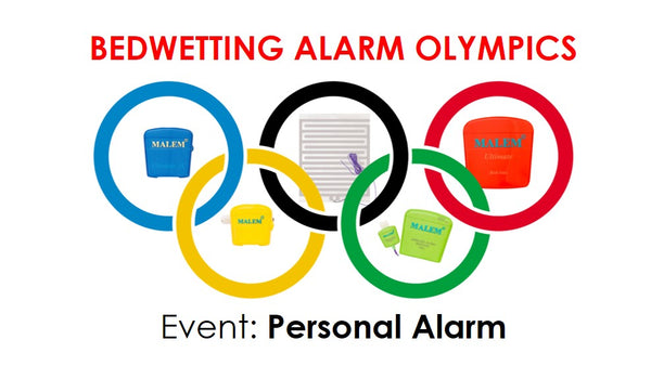 Personal bedwetting alarm