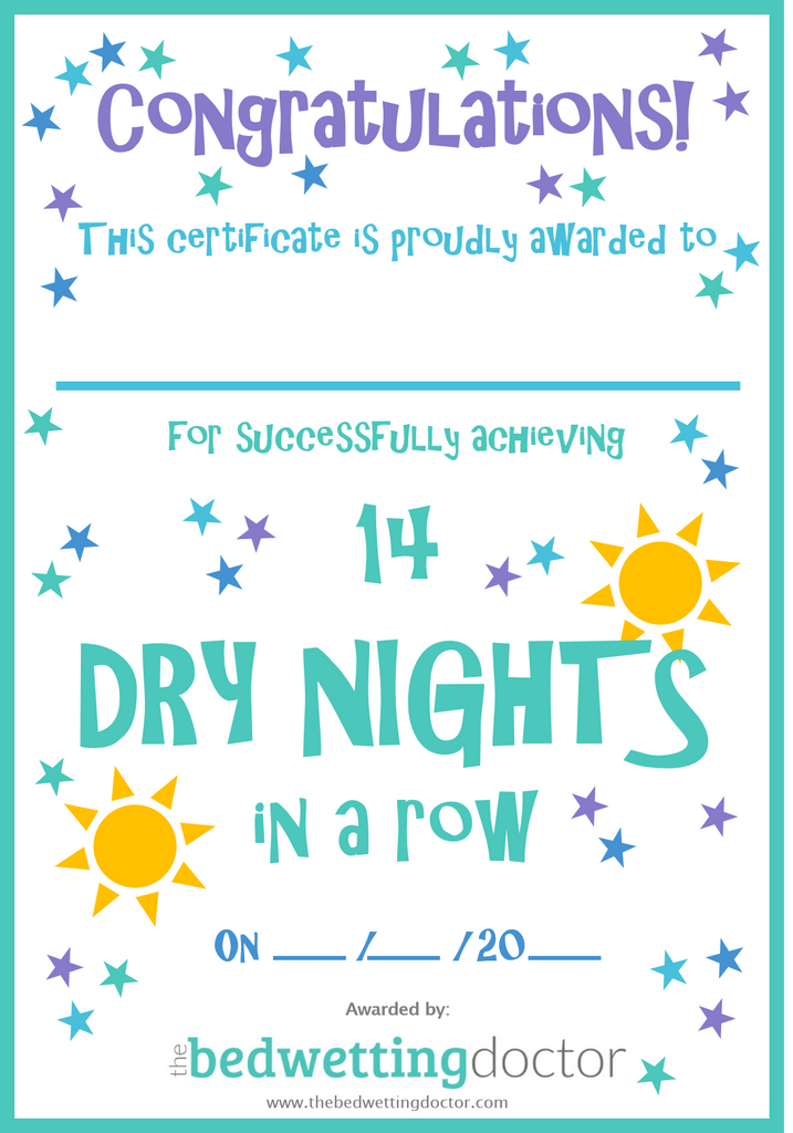 Dry Nights Certificate
