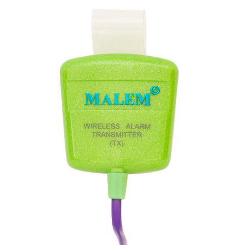 MO12 Green Malem Wireless Enuresis Bedwetting Alarm transmitter front
